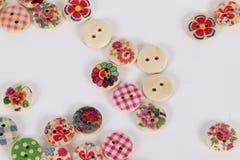 Um montão de botões coloridos Imagens de Stock Royalty Free
