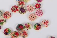 Um montão de botões coloridos Fotografia de Stock