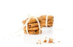 Um montão de cookies da microplaqueta Fotos de Stock