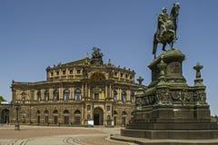 Um monumento ao rei Saxony de Johann Fotos de Stock