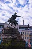 Um monumento a Bogdan Khmelnytsky Fotografia de Stock Royalty Free