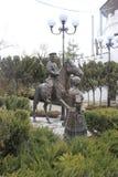 Um monumento de bronze fotos de stock