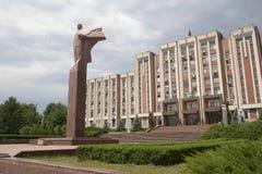 Um monumento de Lenin, o governo e o Conselho supremo de Tran Imagem de Stock