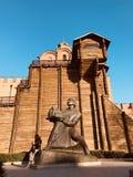 Um monumento a fundar de Kyiv - de Ucrânia - de KYIV ou de KIEV imagens de stock royalty free
