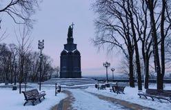 Um monumento a Vladimir o batista em Vladimir Hill imagens de stock