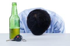 Um motorista bêbado fotografia de stock