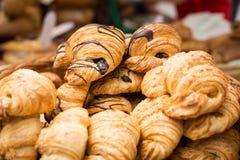 Um número de croissant Imagens de Stock