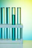 Um número de tubos de ensaio Imagens de Stock
