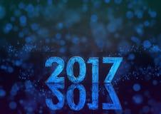 um número fosforescente de 2017 anos Imagens de Stock