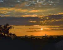 Um nascer do sol bonito imagem de stock