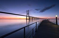 Um nascer do sol limpo Imagem de Stock