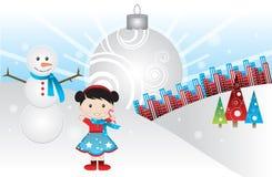 Um Natal branco Fotos de Stock