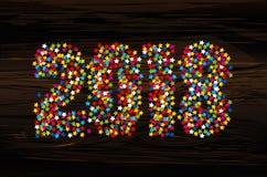 Um Natal que figuras 2018 fizeram dos confetes Wi do ano novo feliz ilustração royalty free