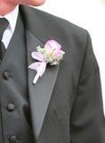 Um noivo com uma flor foto de stock royalty free