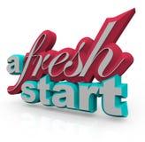 Um novo começo - palavras 3D Imagem de Stock