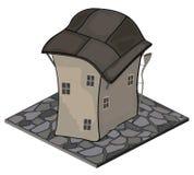 Um objeto do jogo de vídeo: uma casa velha Foto de Stock