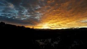Um oceano do por do sol da cor em Colorado Fotografia de Stock