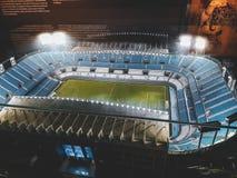 Um olhar dentro do estádio de futebol de Malaga fotos de stock