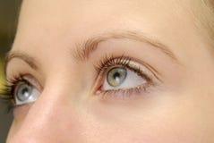 Um olho da mulher imagem de stock royalty free
