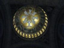 """Um ouro pintou a pintura mural na abóbada a mais alta ur do Sacré-CÅ """", Paris fotos de stock royalty free"""