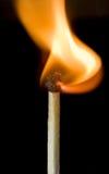 Um outro fósforo de segurança ardente Fotografia de Stock
