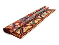 Um outro tapete persa rolado imagens de stock royalty free