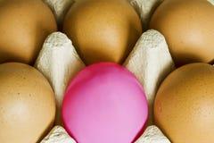 Um ovo cor-de-rosa Imagem de Stock