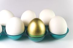 Um ovo dourado Fotografia de Stock Royalty Free