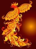Um pássaro mítico do fogo Foto de Stock
