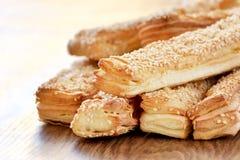 Um pão delicioso para o pequeno almoço Fotografia de Stock