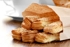 Um pão delicioso para o pequeno almoço Fotos de Stock Royalty Free