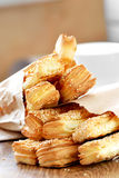 Um pão delicioso para o pequeno almoço Fotografia de Stock Royalty Free