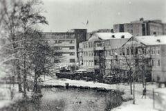 Um país das maravilhas do inverno Fotografia de Stock