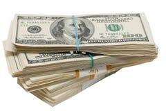 Um pacote de dinheiro Fotos de Stock
