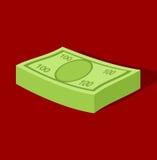 Um pacote de dinheiro Imagem de Stock
