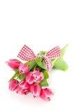 Um pacote de tulips cor-de-rosa Foto de Stock Royalty Free