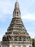 Um Pagoda no Wat Arun (templo do alvorecer) Foto de Stock Royalty Free