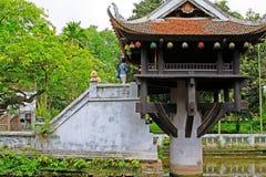 Um pagode da coluna, Hanoi Vietname fotos de stock royalty free