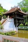 Um pagode da coluna, Hanoi Vietname imagens de stock royalty free