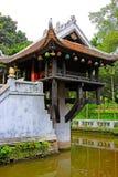 Um pagode da coluna, Hanoi Vietname fotos de stock