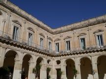Um pal?cio em Lecce em Italia Fotos de Stock