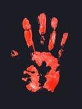 Um palmprint vermelho Foto de Stock Royalty Free