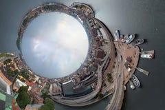 um panorama de 360 graus de Éstocolmo Imagens de Stock Royalty Free