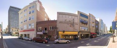 um panorama de 180 graus de Asheville do centro Fotografia de Stock Royalty Free