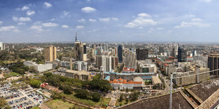 um panorama de 180 graus de Nairobi, Kenya Imagens de Stock