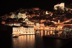 Um panorama de uma cidade velha de Dubrovnik Fotos de Stock Royalty Free