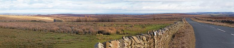 Um panorama do monte de Menwith, Yorkshire, Inglaterra imagem de stock royalty free