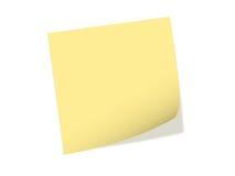 Um papel de nota Fotos de Stock