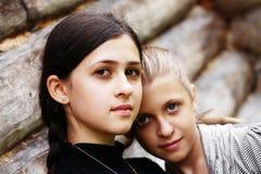 Um par de irmãs Foto de Stock