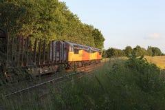 Um par de locomotivas da classe 56 Imagem de Stock Royalty Free